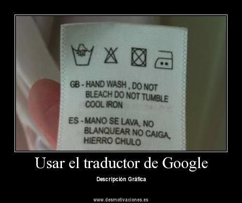 Traducción desafortunada en una etiqueta de ropa