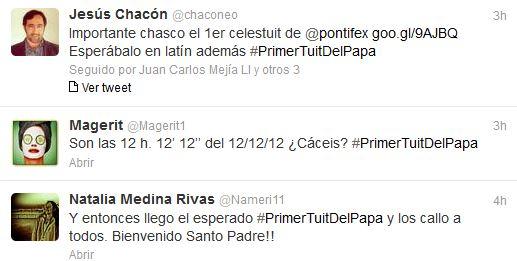 Tuits sobre el Papa