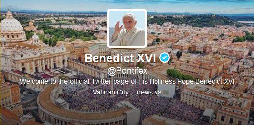 Portada del Canal de Twitter del Papa