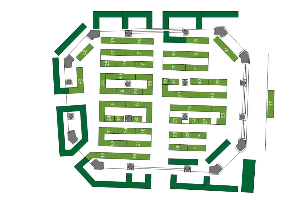 Mapa de la Feria de Ordizia