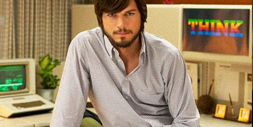 Ashton Kutcher durante la película de Steve Jobs