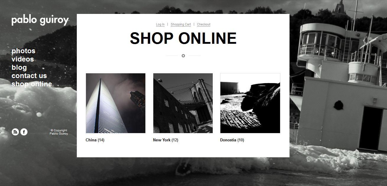 Tienda online de Pablo Guiroy