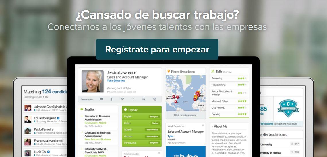Tyba.com, plataforma para buscar empleo