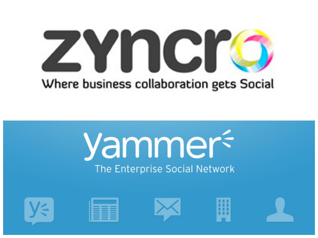 Redes sociales corporativas: zyncro y yammer