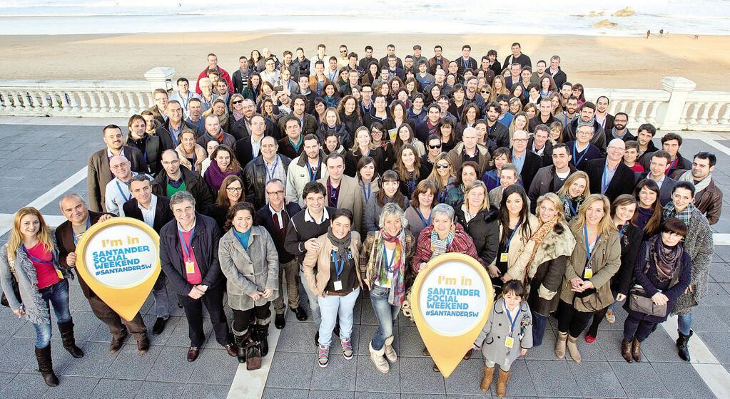 Asistentes al Santander Social Weekend